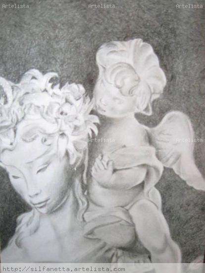 angel de Oriente Grafito