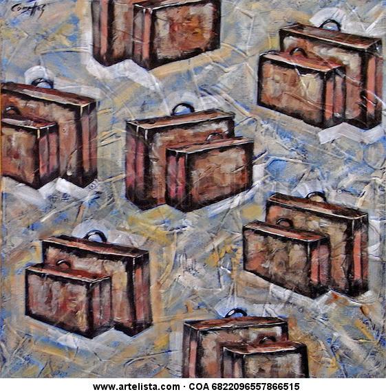 Hobby Viajar Canvas Acrylic Others