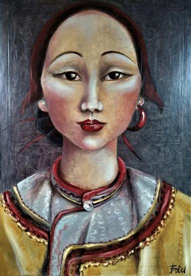Princesa Kököchin Lienzo Óleo Retrato