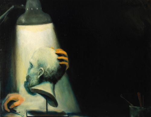 Artista en la sombra Óleo Lienzo Paisaje