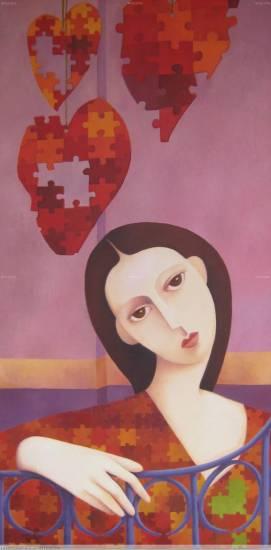 Recuperando corazones Óleo Lienzo Figura