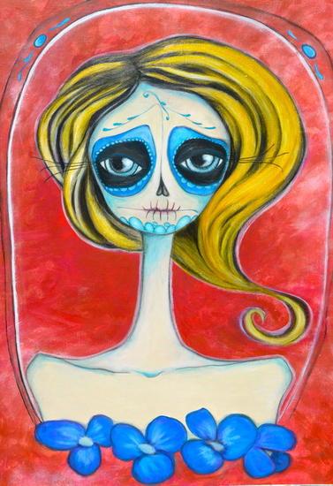 Calixta Panel Acrylic Portrait