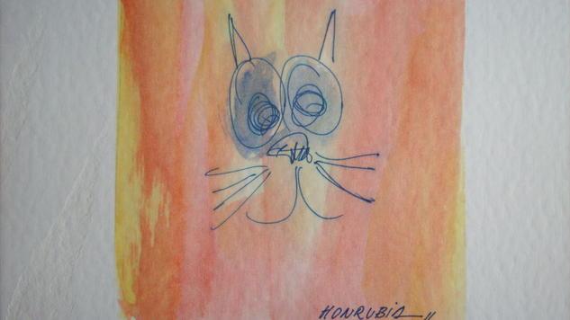 Miau del PROYECTO MI MASCOTA SOLIDARIA Canvas Landscaping Oil