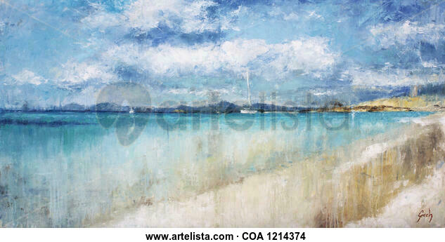 Formentera beach Marine Painting Oil Canvas