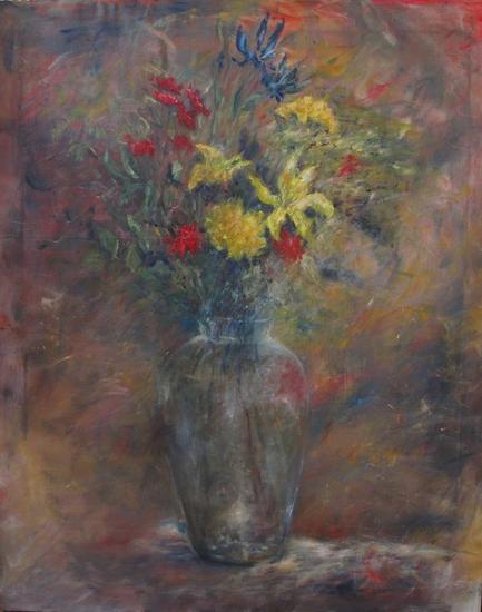 Jarrón con Flores Lienzo Óleo Bodegones