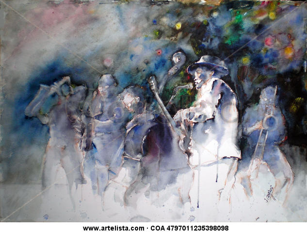 Concierto de Jazz Paper Watercolour Others