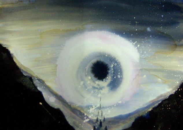 Spiritus Mundi IIII Paisaje Acuarela Cristal