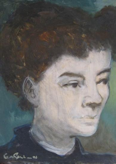 homenaje a Edgar Degas Card Oil Portrait