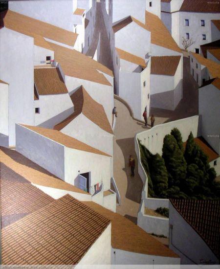 Calle entre volúmenes | Cuadro