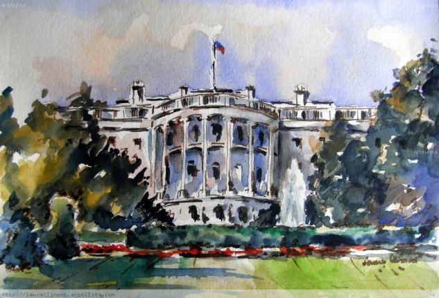 The White House Papel Media Mixta Paisaje