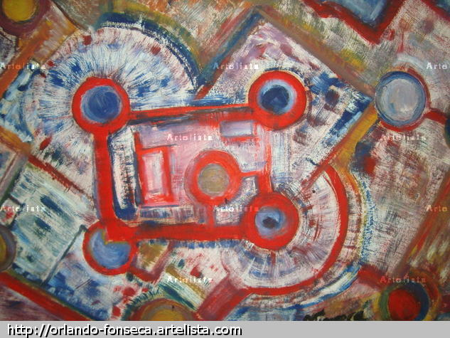 Reacción de atomos en cadena Canvas Oil Others