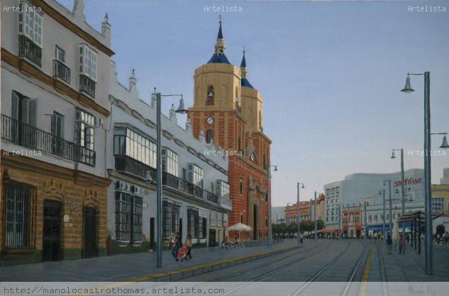 Calle real - iglesia mayor de san fernando (cadiz)