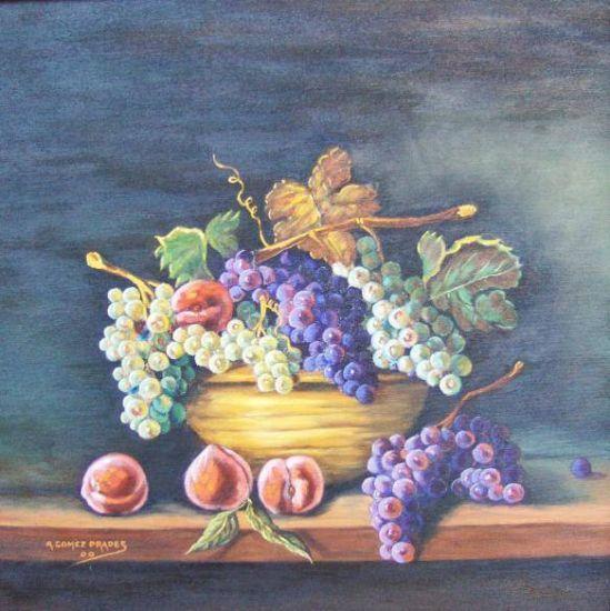 Bodegón con frutas Óleo Tela Bodegones