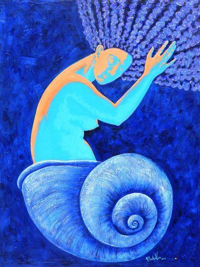 AZUL Acrylic Panel Figure Painting
