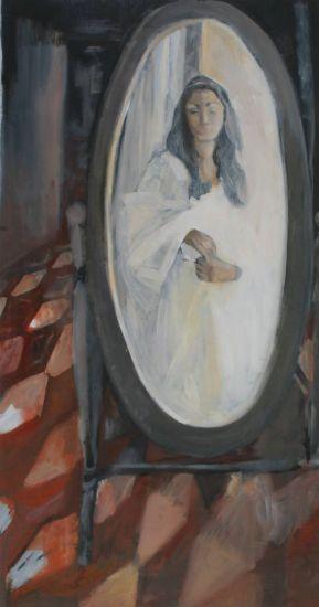 reflexion de novia Óleo Lienzo Paisaje