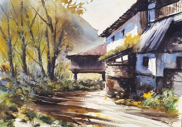 villanueva - teverga Landscaping Watercolour Paper