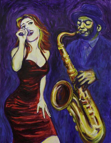 Jazz Lienzo Acrílico Otros