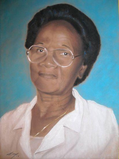 retrato de mi abuela Pastel Papel Retrato