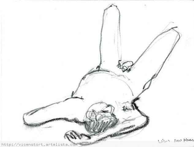 Paolo 001 Papel Lápiz (Negro) Desnudos
