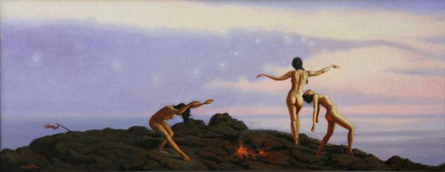 Danza al mar Desnudos Óleo Lienzo