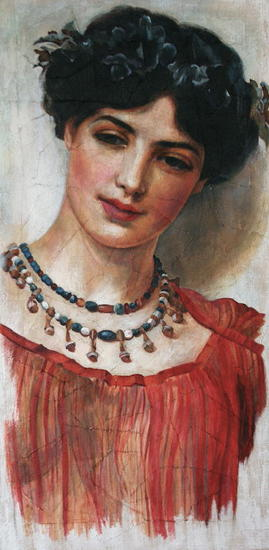 ALEGORÍA VIV Figure Painting Oil Panel