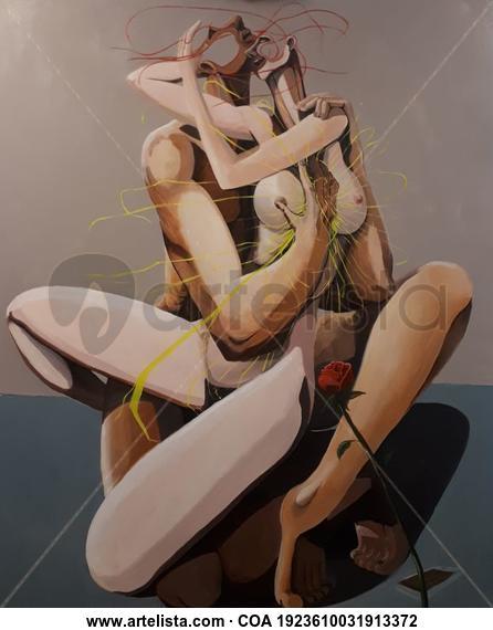 THE ELECTRIC HUG Desnudos Óleo Lienzo