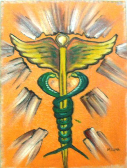 Simbolo de la Medicina Oil Canvas Figure Painting