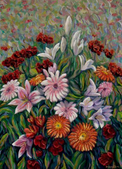 Flores Lienzo Óleo Floral