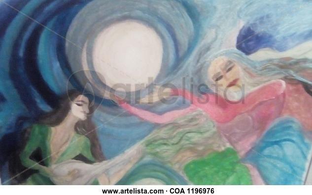 Mujeres cantando  Figure Painting Acrylic Canvas