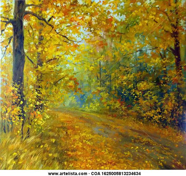 Autumn silence Lienzo Óleo Paisaje