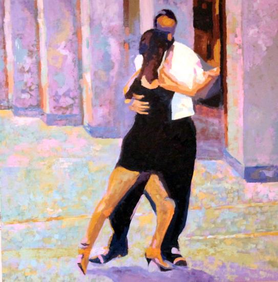 Tango a Padova Tabla Óleo Paisaje