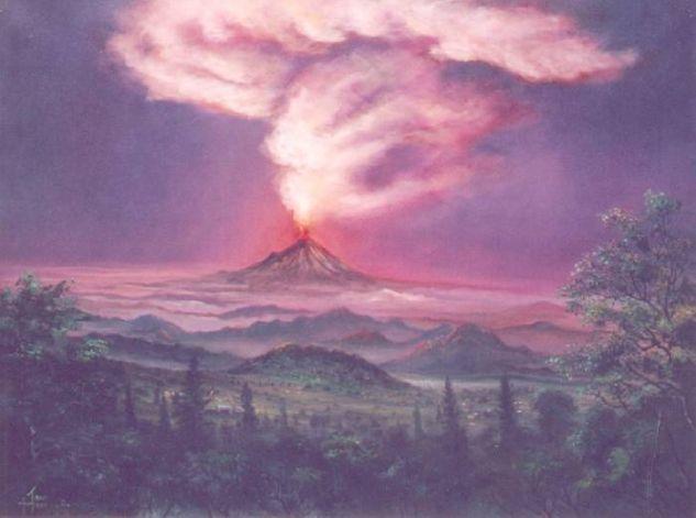 paisaje con volcán