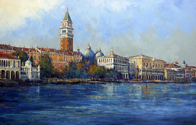 View of Venice Lienzo Óleo Paisaje