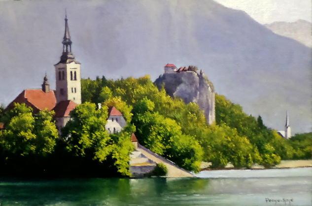 Paisaje de Eslovenia Paisaje Óleo Lienzo