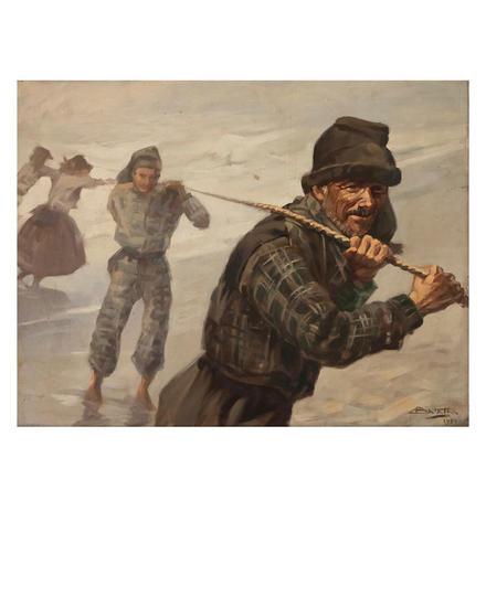 Os pescadores Otros Óleo Tela