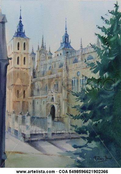 Atrio catedral Papel Acuarela Otros