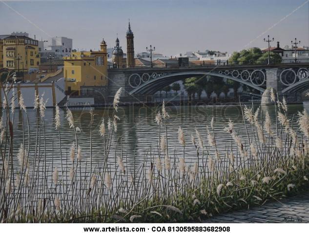 PUENTE DE TRIANA Canvas Oil Landscaping