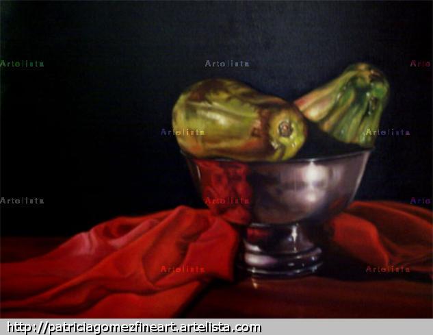 Bowl with papayas Lienzo Óleo Otros
