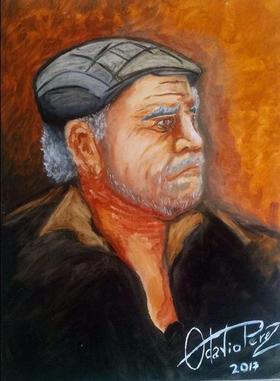 el viejo Lienzo Óleo Retrato