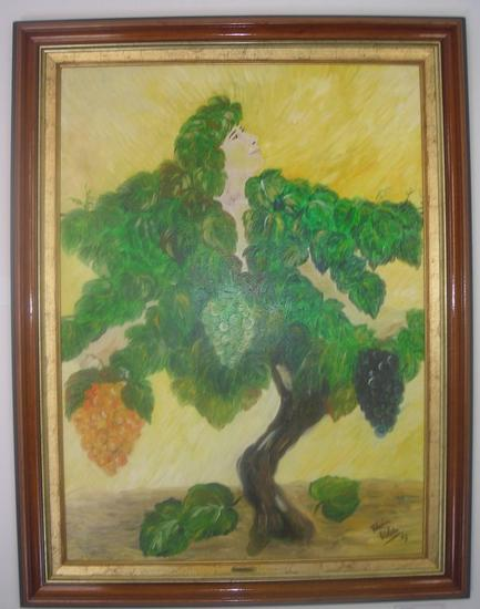 A Musa do Douro Figure Painting Oil Canvas