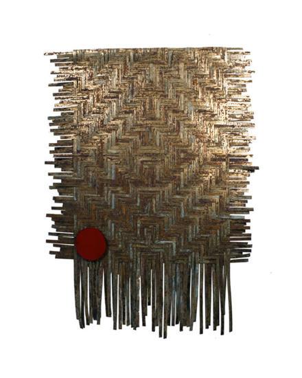punto rojo Abstracta Metal
