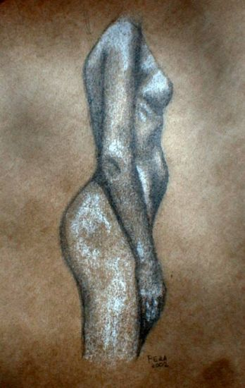 Desnudo de lado 1 Carboncillo