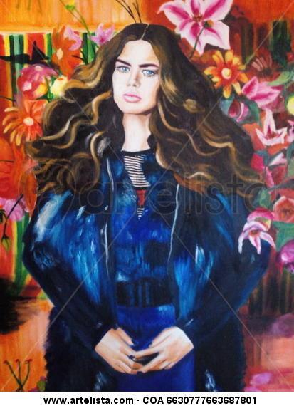 COLOR Canvas Oil Portrait