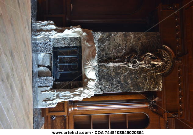 fireplace title zodiac sign Aquarius Marble Mixed