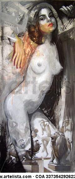 Almas esperanzadas 46 Lienzo Media Mixta Desnudos