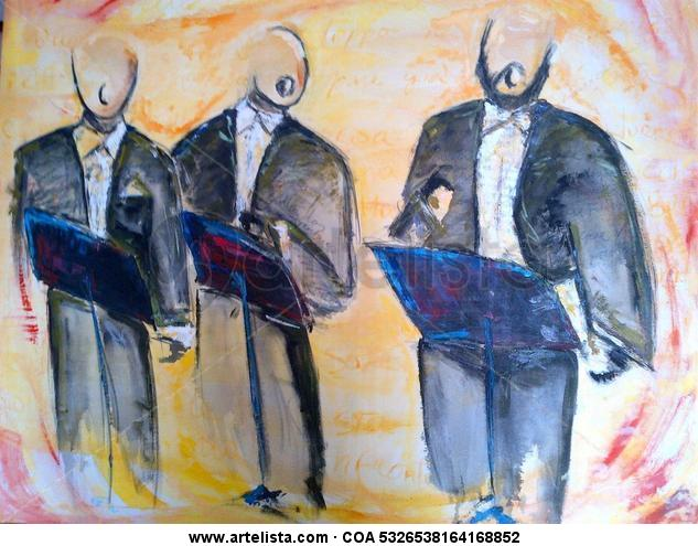 O SOLE MIO ! Lienzo Media Mixta Figura