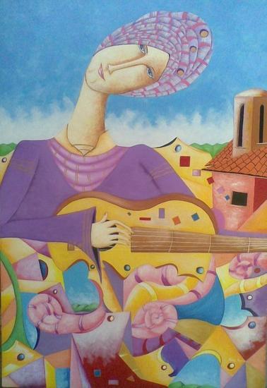 serenata Acrílico Figura Lienzo