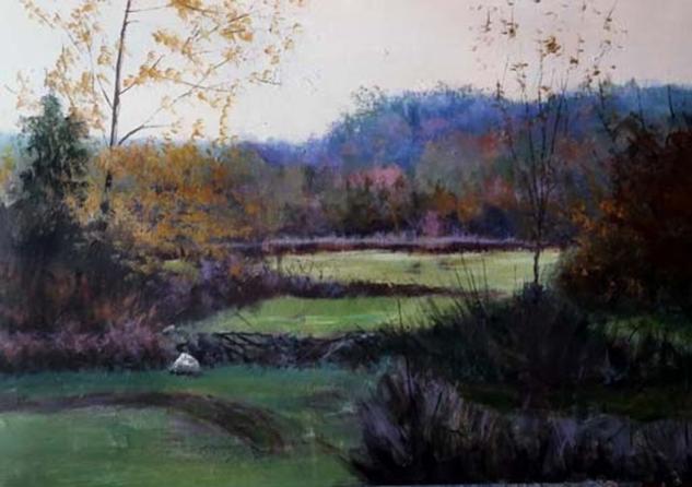 Prado por Canto Gordo 50x70 cm Paisaje Acrílico Lienzo