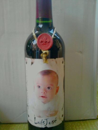 botellas para bautizos personalizadas Cristal Óleo Retrato