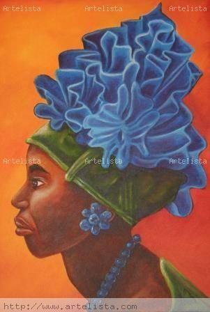 Coral Azul Acrílico Lienzo Retrato